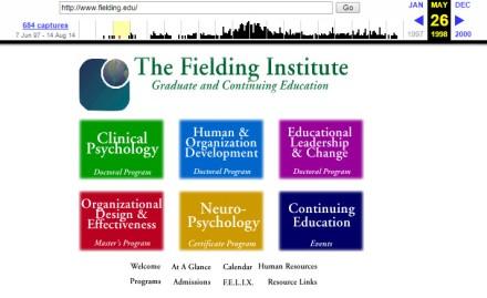 Fielding's webpage on the Wayback Machine
