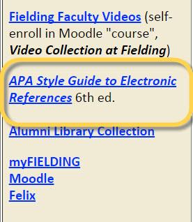 Screenshot of guide link.