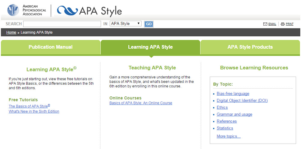 apa style referencing machine
