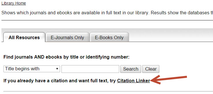 citation linker access