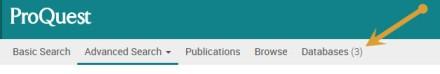 Screenshot of database confirmation.