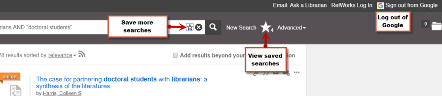 Screenshot of FASTsearch page after signing in